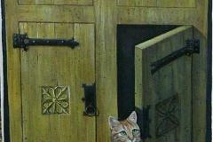 Particolare di una porta decorata