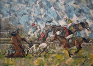 fall, caduta, steeplechase, corsa ostacoli, cavalli, horses